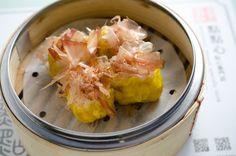 Dim sum ~ pork , fish ,shrimps dumplings ( siu mai )