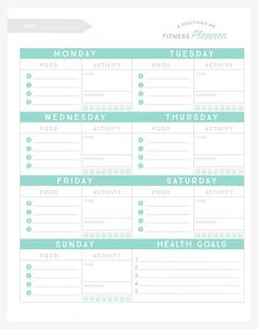 free printable weight loss tracker  instant download pdf