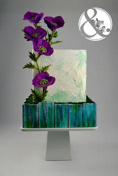 Purple poppies - Mama's Boys collaboration - Cake by Arte y Sabor Floral Wedding Cakes, Wedding Cake Designs, Wedding Ideas, Gorgeous Cakes, Pretty Cakes, Amazing Cakes, Extreme Cakes, Poppy Cake, Purple Poppies