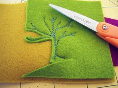 What a great idea. I never thought to stitch intricate things first, and then cut.