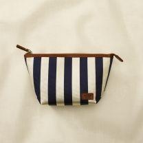 RUGBY Stripe Silk Faille Makeup Case / Ralph Lauren #stripe #bag