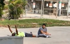 Cell phone video shows caretaker lying in the street before being shot by police   Miami Herald