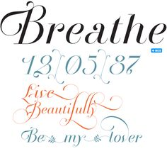 Breathe Pro is a subtle unconnected script font from Buenos Aires-based designer Maximiliano R. Sproviero. #fonts #type