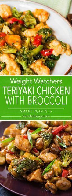 Weight Watchers Teriyaki Chicken with Broccoli Recipe - 6 Smart Points