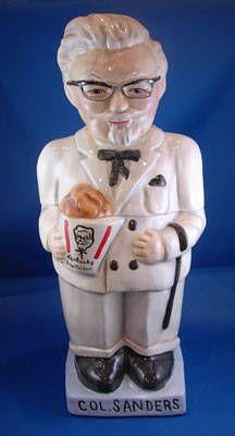"Colonel Sanders Fried Chicken Jar    wonder if the Colonel has ""chicken cookies"" inside....:)"