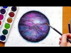 In this video you will learn how to paint a simple watercolor galaxy. Its fun and easy to do so I hope you enjoy painting with me. Ill show you everything I ...