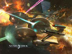 Como homenaje a la serie Star Trek, la NASA bautizó un transbordador espacial con el nombrede Enterprise.  Para devolver el favor, en la s...