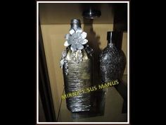 RECICLANDO BOTELLA DE VIDRIO ...RECYCLING GLASS BOTTLE....