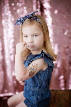 Tattooed Babies, Michigan Photographer, www.ShoneFoto.com, Tattoo Baby, pin up, www.kalynernest.com