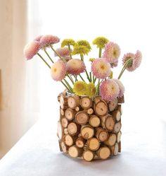 Vase Petits rondins de bois