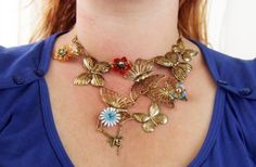 All the butterflies flock to her neck by tinyminds on Etsy, $38.00