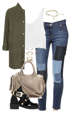 """Untitled #3760"" by eleanorsclosettt ❤ liked on Polyvore featuring Forever 21, Baldwin Denim, MINKPINK, Topshop, Alexander Wang, Balenciaga and Pieces"