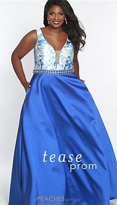 e12ebb17ad5 Sydneys Closet TE1844 Plus Size Prom Dresses