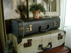 Little Black Suitcase  Vintage Musical Instrument Case  by TWFaith, $59.00