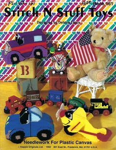 Plastic Canvas Stitches, Plastic Canvas Patterns, Kids Bean Bags, Airplane Toys, Bazaar Crafts, Pattern Books, Handmade Items, Handmade Gifts, Stuffed Toys Patterns