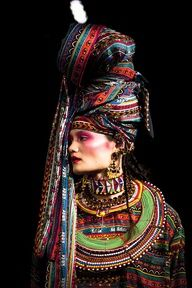 Not a very practical turban, but the colour/pattern is pretty inspirational!
