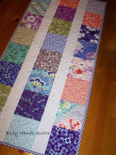 ON SALE Quilt Table Runner in Good Fortune by BusyHandsQuilts, $32.00