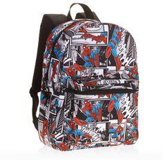 School Backpack Boys Shoulder Bag 16 Spidey Comic Kids Student Travel  Bookbag  2be8903457bd9