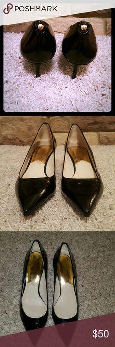 Michael Kors Black Patent Leather Heels Michael Kors black patent leather heels. Heel is 2.25in. Gently worn. Size 11. Very comfortable! I take reasonable offers! Michael Kors Shoes Heels