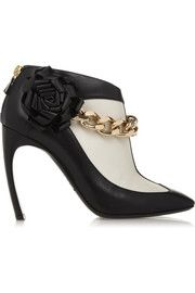 Nicholas KirkwoodChain-trimmed leather ankle boots