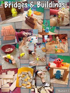 """Building Bridges for 'Trolls' from Rachel ("""",) Traditional Tales, Traditional Stories, Eyfs Activities, Activities For Kids, Fairy Tales Unit, Billy Goats Gruff, Building Bridges, Fairy Tale Theme, Block Play"""