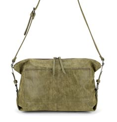 Slouchy East West sling in soft, washed material. A trendy color in a classic…
