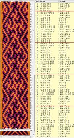 30 tarjetas, 3 colores, repite cada 18 movimientos // sed_596 diseñado en GTT༺❁