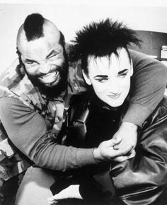 boy george & mr t (who loves the A-TEAM / KARMA CHAMELEON by the culture club...) guilty pleasures
