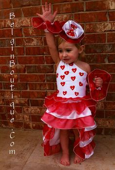 Pageant OOC Valentine Hearts Love baby toddler by BelginBoutique