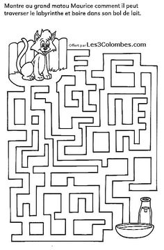 labyrinthe enfant 25 Maze Worksheet, Marble Maze, Fall Preschool Activities, Mazes For Kids, Journey Mapping, Wedding With Kids, Brain Teasers, Teaching Materials, Kids Education