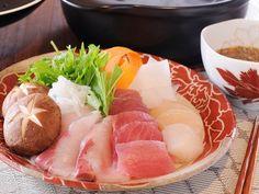 生しょうゆダレで食べる海鮮しゃぶしゃぶ鍋  https://recipe.yamasa.com/recipes/1544