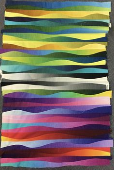 New directions – Gillian Travis - Maywood Studios Gelato jelly roll Jellyroll Quilts, Scrappy Quilts, Strip Quilts, Quilt Blocks, Ombre Fabric, King Size Quilt, Quilting Designs, Quilting Ideas, Textile Art
