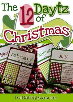 """LOVE this! 12 """"Daytz"""" of Christmas. Great hubby gift and all you have to do is print!"""