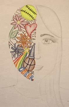 Art. Paper. Scissors. Glue!: Split Face Self-Portrait