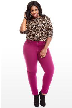 Berry Stretch Skinny Jeans