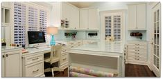 Great craft room (just maybe not in white) Memorial Hamptons Style | Brickmoon