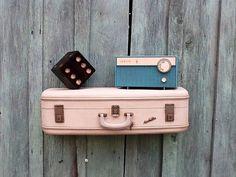 Vintage Ivory White Aero Pak Upcycled Suitcase by thecherrychic, $65.00