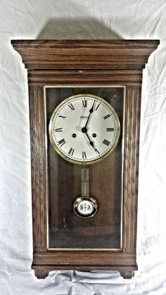 Vintage Daniel Dakota Regulator Wall Clock School House
