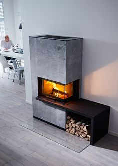 """Cover of """"Каталог Contura Home Fireplace, Modern Fireplace, Fireplace Surrounds, Fireplace Design, Les Elements, Small Corner, Maine House, Stove, Sweet Home"""