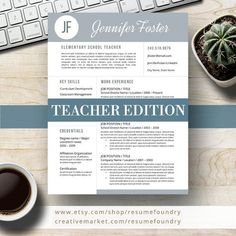 To get the job, you a need a great resume. The professionally-written, free resume examples below can help give you the inspiration you need to build an impressive resume of your own that impresses… Teacher Resume Template, Modern Resume Template, Resume Templates, Templates Free, Design Templates, Cover Letter For Resume, Cover Letter Template, Cover Letters, Web Developer Resume