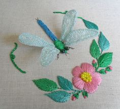 Sew in Love: Assembling the stumpwork dragonfly