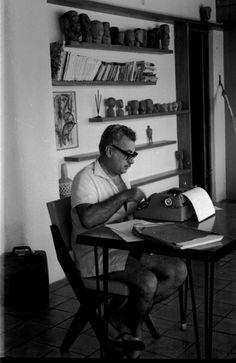 Jorge Amado at his home.