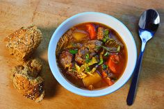 Lamb, Vegetable and Lentil Soup with Cabbage