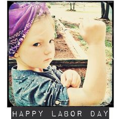 Toddler photography - Happy Labor Day