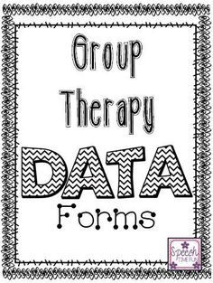 Speech Time Fun: Group Therapy Data Forms! (FREEBIE!) Repinned by SOS Inc. Resources pinterest.com/sostherapy/.