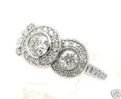 3 Stone Round Diamond Engagement Ring Bezel Set 1 65ctw | eBay