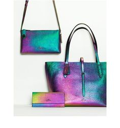 Coach Hologram Leather