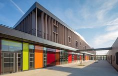 Image 1 of 28 from gallery of School Complex in Serris  / Ameller, Dubois & Associés. Photograph by Guillaume Guérin