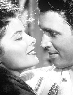 "Katherine Hepburn and Jimmy Stewart ""The Philadelphia Story"" 1940 Golden Age Of Hollywood, Vintage Hollywood, Hollywood Stars, Classic Hollywood, 1940s Movies, Iconic Movies, Old Movies, Old Movie Stars, Classic Movie Stars"