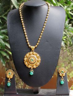 Designer Pearl & Polki Necklace Set – India1001.com